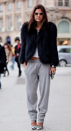 Sophisticated style with sweat pants
