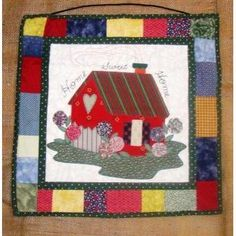 $40.00 Patchwork Wall Hanging Home Sweet Home by RusticPieces on Handmade Australia