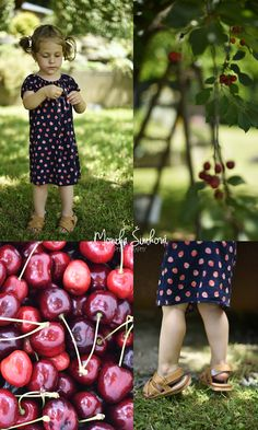the little girl and cherry