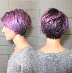Purple Pixie Hair