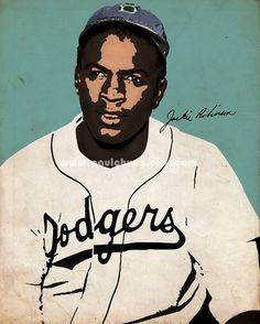 Jackie Robinson by paulchung on Etsy, $20.00