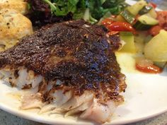 Grouper is a very delicious and flavorful white fish. They are also super fun to catch, but we really haven& had a chance to do much of tha. Grouper Recipes, Fish Recipes, Seafood Recipes, Low Carb Recipes, Cooking Recipes, Fried Fish, Fish Fry, Clean Eating