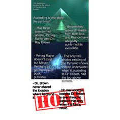 Revealing the thruth about the mysterious pyramid beneath the bermuda triangle. Hoax?