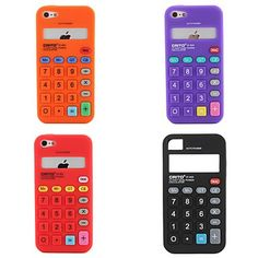 Calculator Special Design Silica Gel Soft Case Back Cover for iPhone 5