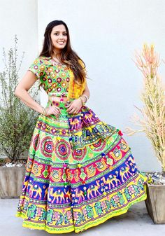 Gopi Skirt Outfits or Lehenga are the most popular Indian wear or Indian Dress in Indian Fashion. Also known as Half Saree or Lehenga Saree or Lehenga Choli or Garba skirts Lehenga Saree, Lehenga Skirt, Traditional Fashion, Half Saree, Skirt Outfits, Indian Dresses, Indian Wear, Diy Clothes, Indian Fashion