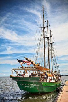 The schooner Alliance, Yorktown, Virginia