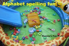 Momma's Fun World: Alphabet scoop for spelling