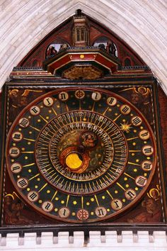 The Wells Cathedral clock is an astronomical clock in the north transept of Wells Cathedral, England. The clock is one of the group of famous 14th to 16th century astronomical clocks to be found in the West of England. The surviving mechanism is dated to between 1386 and 1392.