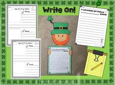 How to Trick and Trap a Leprechaun Writing Craftivity and resource. Parent letter to make a trap, letter from the leprechaun, a leprechaun gets loose in your school, blueprint to design a leprechaun trip, awards for leprechaun trap designs.