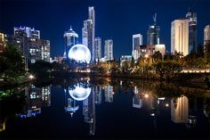 View On Modern City At Night Stock Photo - Image of destinations, gold: 17054056 Gold Coast Queensland, Queensland Australia, Coast Australia, Pretty Pictures, Cool Photos, Interesting Photos, Places To Travel, Places To Visit, Ways Of Seeing