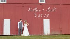 """The Wedding of Kaitlyn and Scott Yost at the beautiful Harvest View Barn in Elizabethtown, PA.  Music Licensed Through Songfreedom: """"I Do"""" - Derek Gust"""