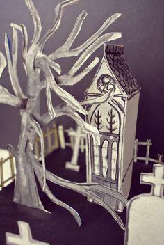 Le blog de Gabrielle Aznar: Le cimetière en papier ♦ DIY Papier Diy, Diy Paper, Decoration, Cemetery, Blog, Decor, Blogging, Decorations, Decorating