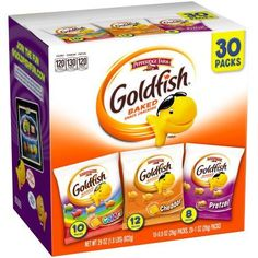 Goldfish Crackers, Animal Crackers, Snack Box, Lunch Box, Gourmet Recipes, Snack Recipes, Tasty Snacks, Cheese Snacks, Fruit Snacks