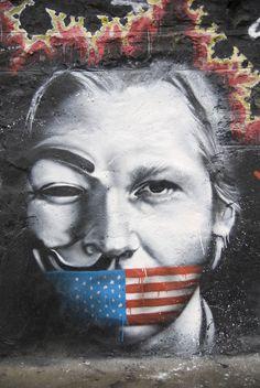 Anonymous / Wikileaks graffiti