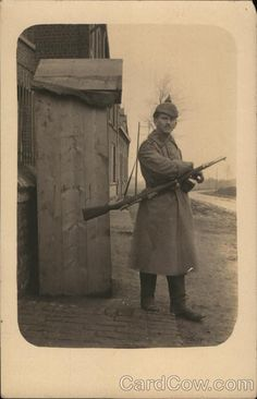 German Soldier on Guard World War I