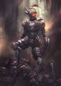Awesome new anime The Goblin Slayer. (Based on the Goblin Slayer manga) Fantasy Warrior, 3d Fantasy, Fantasy Kunst, Dark Fantasy, Sith Armor, Knight Armor, Armor Concept, Concept Art, Slytherin