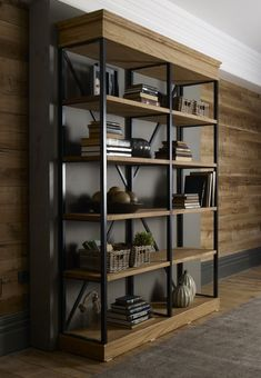 Industrial Home Furniture Options – Industrial Decor Magazine Metal Furniture, Rustic Furniture, Home Furniture, Furniture Design, Dining Furniture, Diy Rangement, Log Home Decorating, Wood Wall Decor, Industrial House