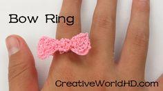DIY Bow Ring - How to Tutorial 3D Printing Pen.3Doodler.Scribbler-Budget Jewelry