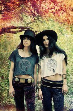 Sisters of the Black Moon looking very 70's rock n' roll.