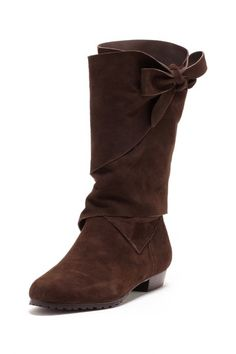 Interesting and cute take on a classic suede boot. Lisa by Donald J Pliner Sherif Flat Boot by Non Specific on @HauteLook