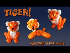 ▶ Mr. Boma's Tiger Balloon Animal Tutorial (Balloon Twisting and Modeling #24) - YouTube