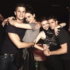 Teen Wolf Cast Crystal Reed, Holland Roden, Max Carver and Charlie Carver
