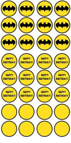 Free Printable Batman Cupcake Toppers