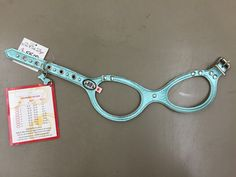 Metallic Aqua Patent Fancy Buddy Belt Harness With Pearls
