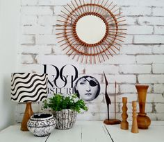 Photo & design by Merci-Ancsa dekor Retro Design, Wabi Sabi, Brick Wall, I Shop, Create Your Own, Vintage Items, Tapestry, Interior, Homes
