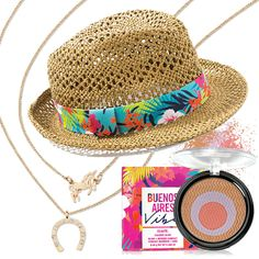 Add a little sunshine to your day with our Buenos Aires collection from mark. You get the perfect Blush & bronzer compact, a stylish fedora and these whimsical charm necklaces all for just $29. (A $64 value).
