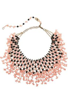 Rosantica                               Papavero gold-dipped, onyx and agate necklace