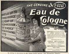 This is an original 1904 black and white print ad for 4711 Eau de Cologne, manufactured by Ferd. Description from ebay.com. I searched for this on bing.com/images