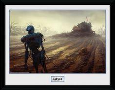 Fallout Poster im Rahmen Farming Robot 30 x 40 cm