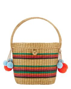 Shop the Sophie Anderson Cinto Rainbow Stripe Straw Box Bag & other designer styles at IntermixOnline.com. Free shipping +$150.