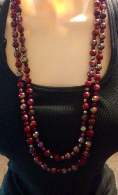 2013 Premier Designs Holiday necklace called Scarlet