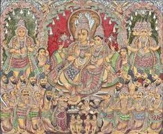 Mysore Painting, Tanjore Painting, Buddhist Art, Art Drawings, Vintage World Maps, God, Pictures, Idea Paint, Dios
