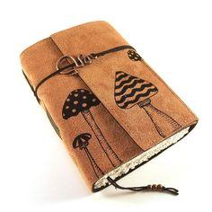 Journal, Leather, Handmade: Woodland