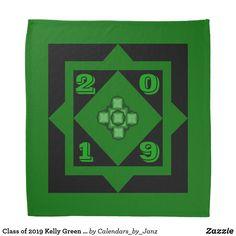 Class of 2019 Kelly Green Bandana by Janz - college graduation gift idea cyo custom customize personalize special Shop Class, College Graduation Gifts, Class Of 2019, Shopping Day, Dog Bowtie, School Spirit, Kelly Green, Bandana, Vibrant Colors