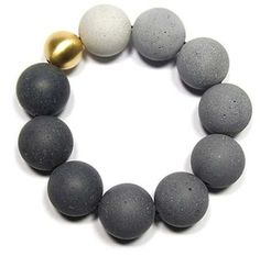 Polished Cement Baubles - The Orbis Jewelry Line by Konzuk