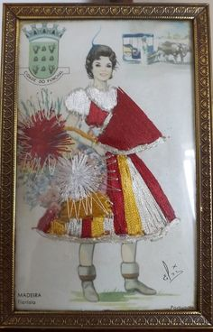Madeira, a street flower seller. Folk Costume, Costumes, Rag Dolls, Traditional Outfits, Paper Dolls, Germany, Memories, Antiques, World