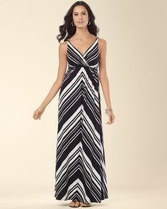 Flowy and just perfect for Summer! (Soma Intimates Surplice Tank Maxi Sailing Stripe #somaintimates)