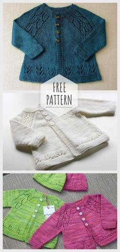 Knitting Baby Cardigan Pattern Knitting Baby Cardigan Pattern Knitting works are the time when ladies spend their free time, when to merely knit the ma. Baby Knitting Patterns Free Newborn, Baby Cardigan Knitting Pattern Free, Baby Sweater Patterns, Crochet Baby Cardigan, Knit Baby Sweaters, Baby Patterns, Knitting Baby Girl, Toddler Cardigan, Knitting Patterns Boys