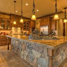 Hammond Ranch. Love the counter top and stne work!