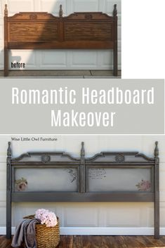 This Bassett Furniture headboard was made over in no time with Dixie Belle paints. They are the easiest paint to blend to create this look. Read the blog post to get the tips and tricks you need to do your own furniture makeover. #paintedfurniture #dixiebellepaint #bestpaintonplanetearth Painted Bedroom Furniture, Refurbished Furniture, Paint Furniture, Repurposed Furniture, Furniture Makeover, Headboard Makeover, Farmhouse Style Bedrooms, Furniture Painting Techniques, Dixie Belle Paint