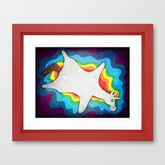 Unicorn Rug Framed Art Print
