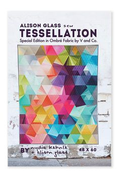 on this special edition of the Tessellation pattern featuring the Ombre fabric collection. Tessellation is a distinctive and flexible pattern by Nydia Kehnl… Jaybird Quilts, 3d Quilts, Patchwork Quilt Patterns, Modern Quilt Patterns, Fabric Patterns, Print Patterns, Quilting Patterns, Quilting Ideas, Sewing Patterns