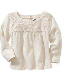 Lace-Yoke Top for Baby | Old Navy- P & Z $10.00