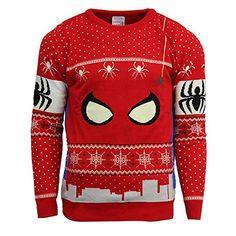 Officially Licensed Women/'s Harley Quinn Christmas Knitted JumperSizes S-XXL