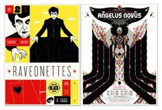 ... Design League Raveonettes and Angelus Novus Silkscreened Posters