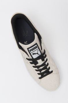 Puma shoe in piñatex This non-woven textile is made from pineapple leaf fibres and was created by Hijosa, who used to design and manufacture leather goods before understanding the ecological damage caused by the tanning process.